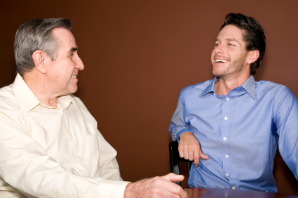 men talking Three Benefits of Improving Communication Skills